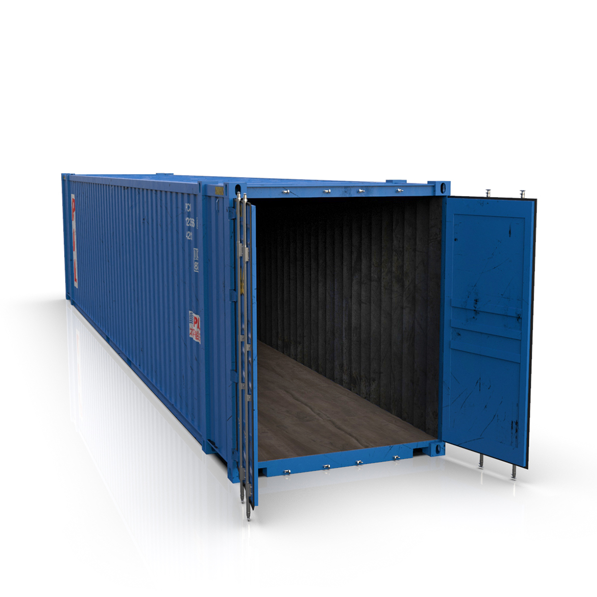 45 feet high cube pil shipping container 3d model max fbx ma mb texture obj 278445