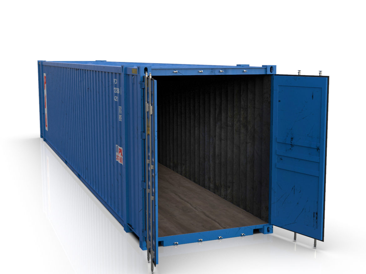 45 feet High Cube PIL shipping container 3d model max fbx ma mb  obj