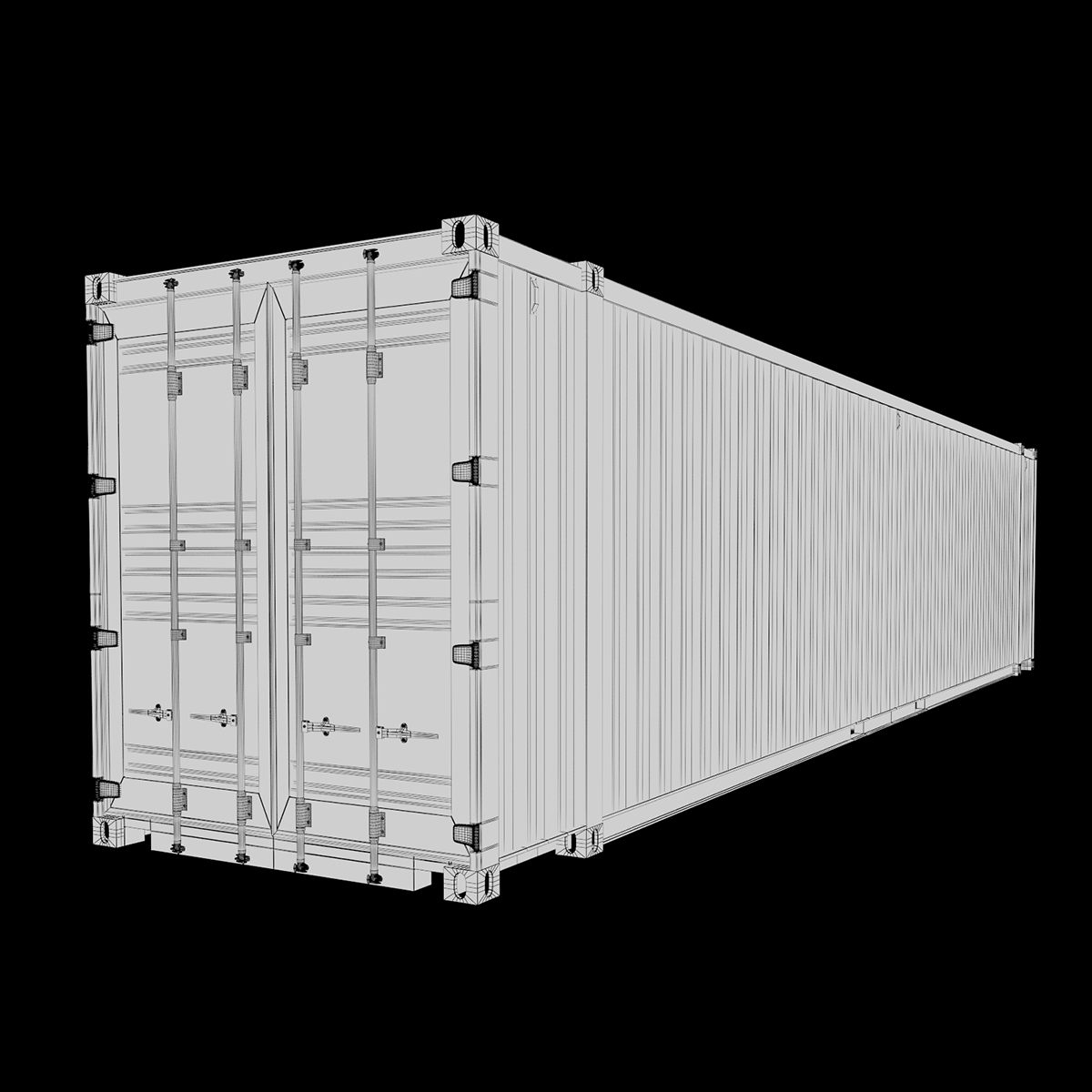 45 feet high cube pil shipping container 3d model max fbx ma mb texture obj 278446
