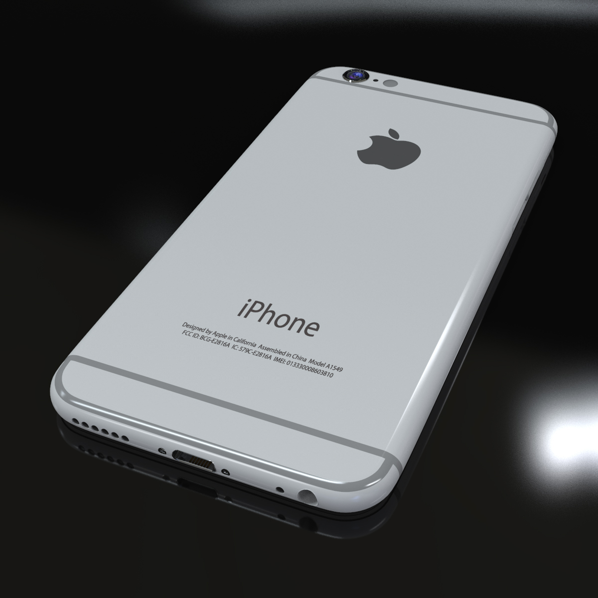 jabuka iphone 6s 3d model max fbx ma mb tekstura obj 278459