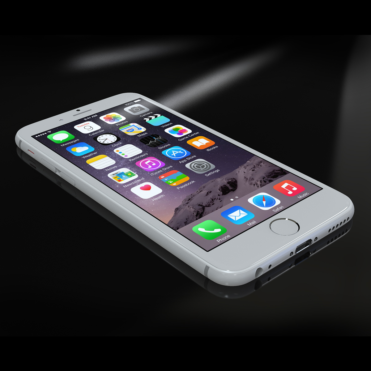 apple iphone 6s 3d model max fbx ma mb texture obj 278461
