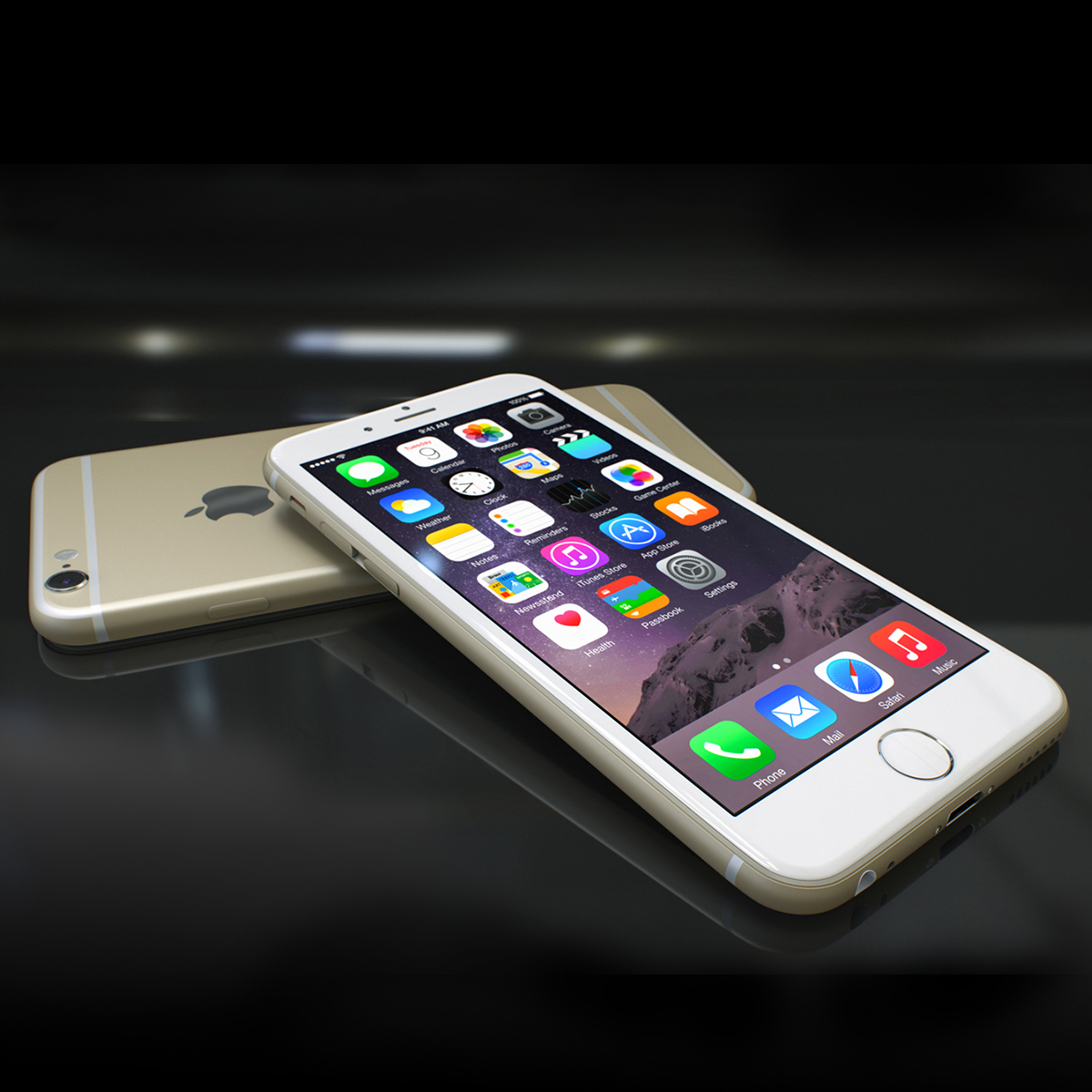 Apple iPhone 6s 3d Modell max fbx ma mb Textur obj 278465