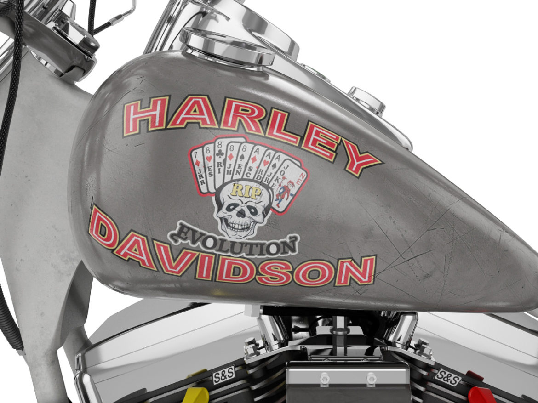 Harley Davidson FXR 1989 Custom 3d model max fbx ma mb  obj