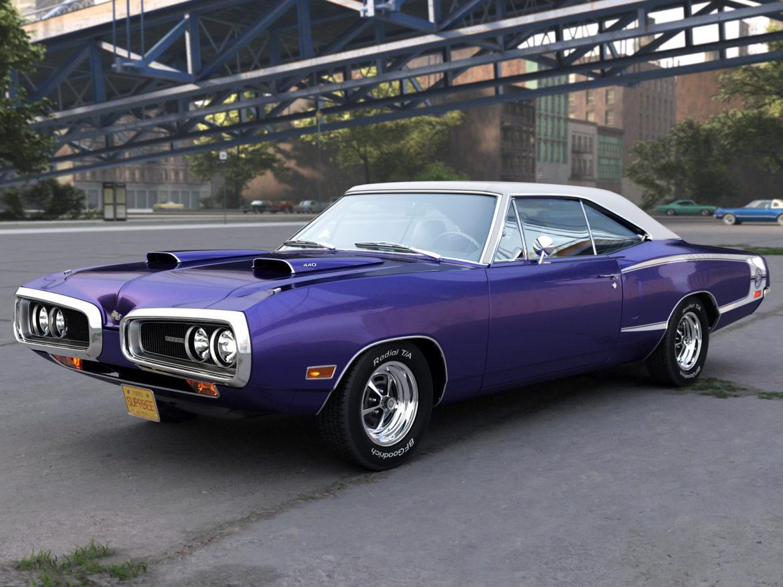 Dodge kóróna frábær bí 1970 3d líkan 3ds max fbx c4d obj 278538