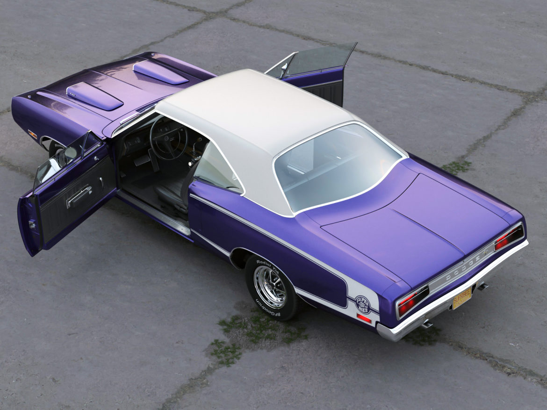 Dodge kóróna frábær bí 1970 3d líkan 3ds max fbx c4d obj 278539