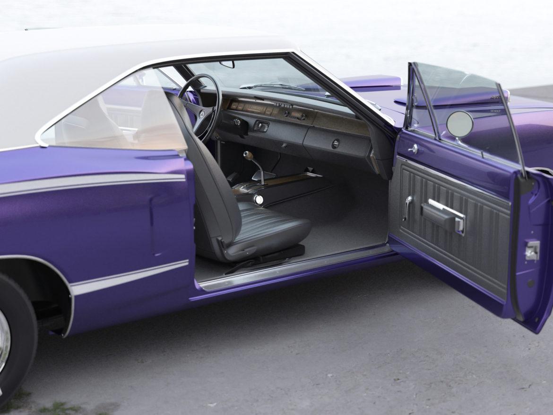 Dodge kóróna frábær bí 1970 3d líkan 3ds max fbx c4d obj 278540