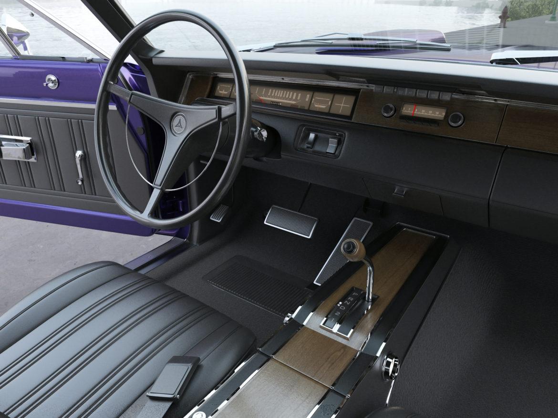 Dodge kóróna frábær bí 1970 3d líkan 3ds max fbx c4d obj 278542