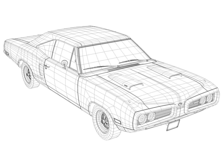 Dodge kóróna frábær bí 1970 3d líkan 3ds max fbx c4d obj 278545