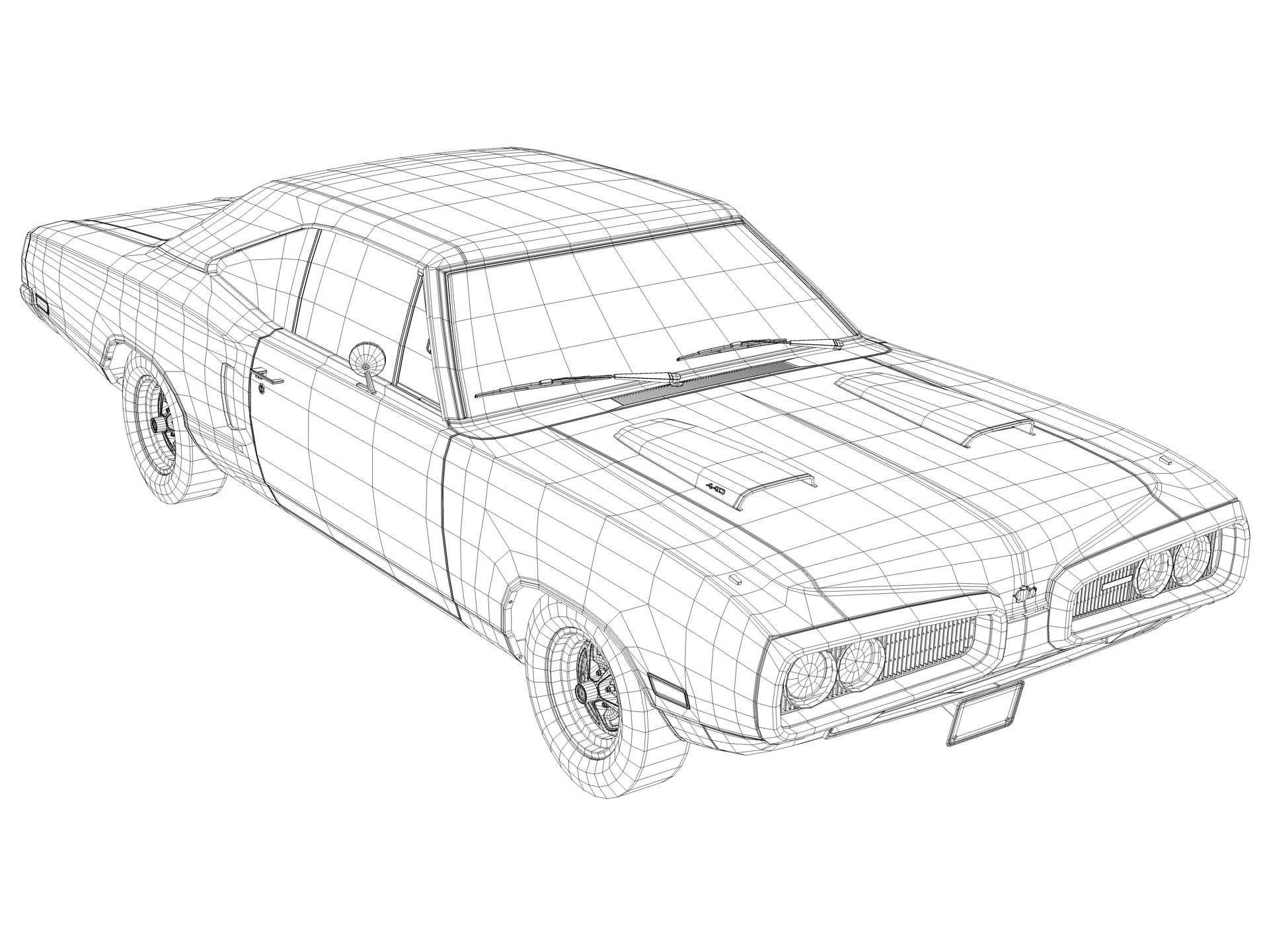 dodge charger super bee drawings