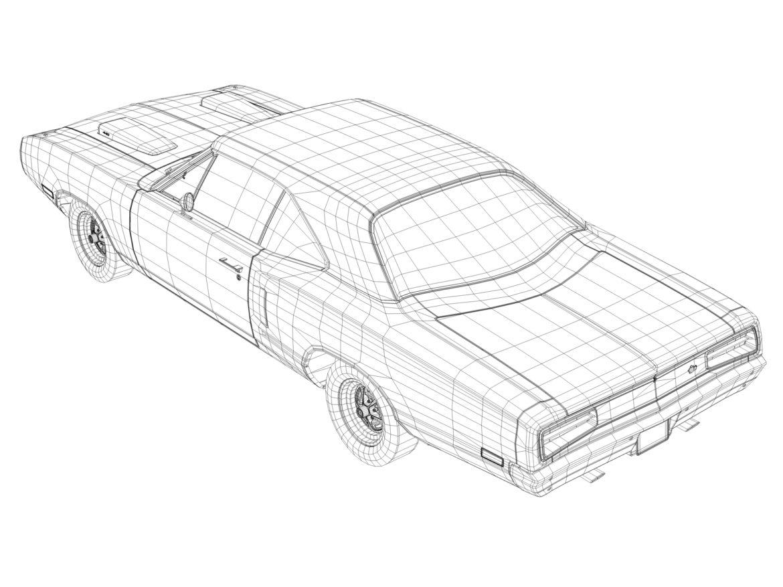 Dodge kóróna frábær bí 1970 3d líkan 3ds max fbx c4d obj 278546