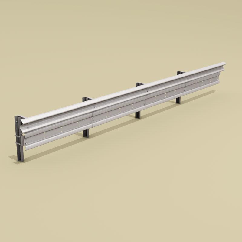 guardrail mótorhjólamaður-bjargvættur 3d líkan 3ds dxf fbx c4d dag eftir 278574