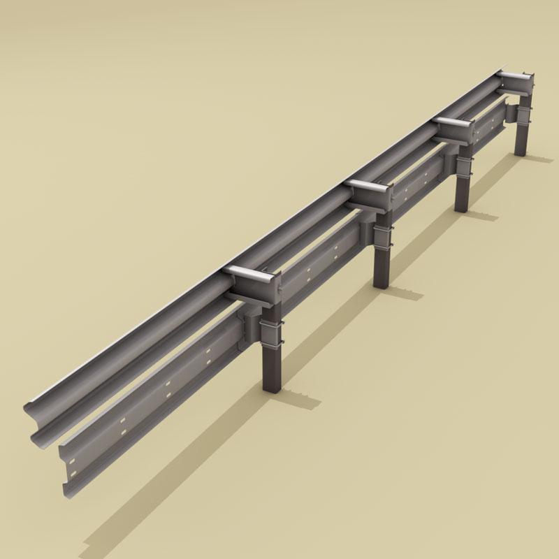 guardrail mótorhjólamaður-bjargvættur 3d líkan 3ds dxf fbx c4d dag eftir 278577