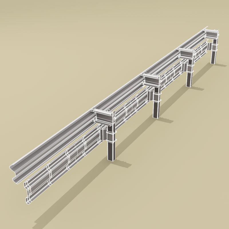 guardrail mótorhjólamaður-bjargvættur 3d líkan 3ds dxf fbx c4d dag eftir 278578