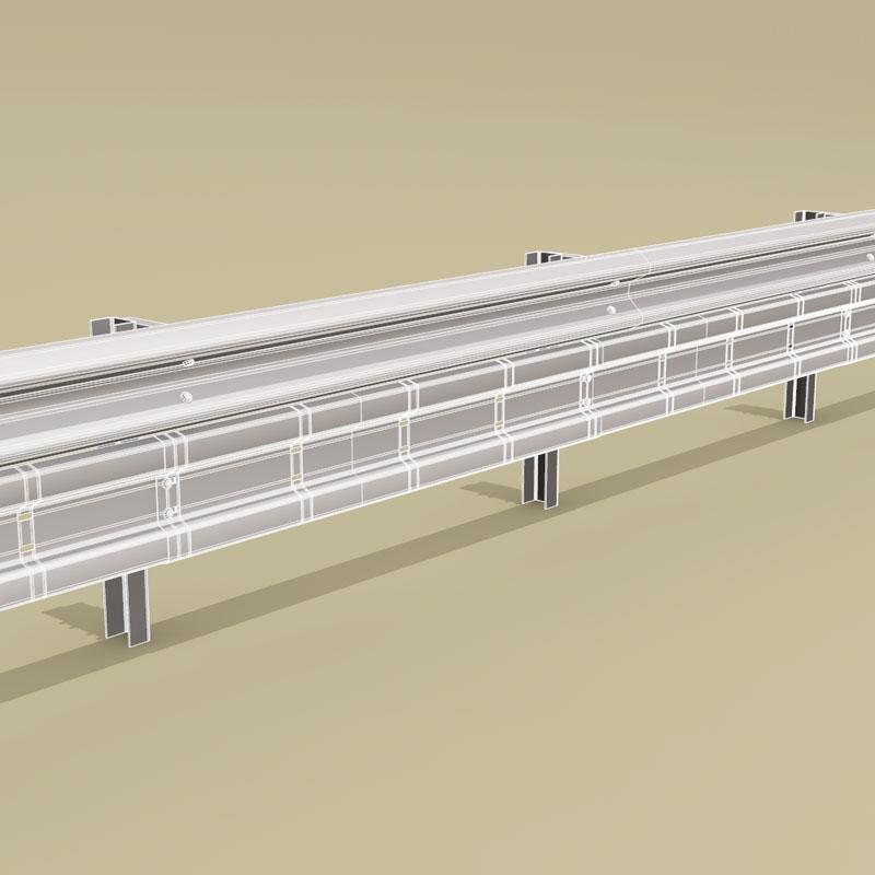 Guardrail bikers-saver 3d model 3ds dxf fbx c4d dae obj Collada dae