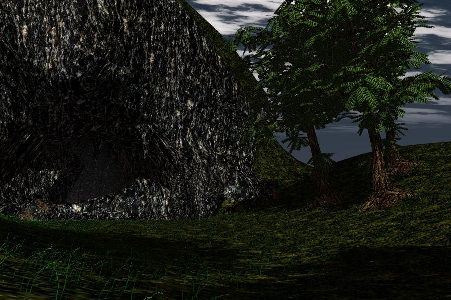the cave scene 3d model lwo 278662