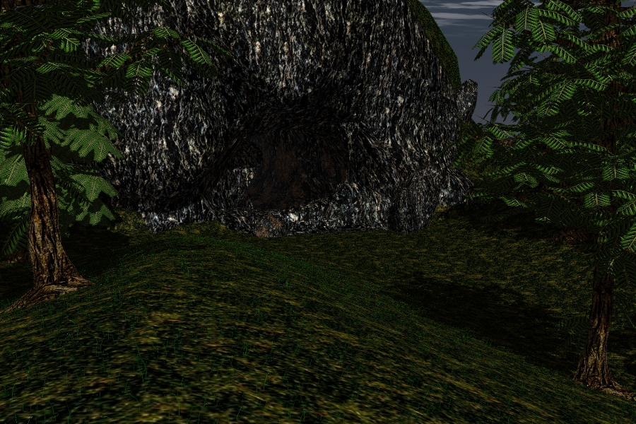 The Cave Scene 3d model lwo lws lw 278663
