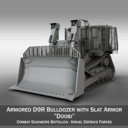 Israeli Armored D9R Bulldozer 3d model high poly virtual reality 3ds fbx c4d lwo lws lw obj