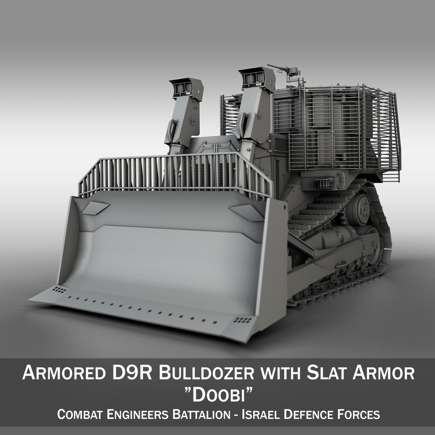 israeli armored d9r bulldozer 3d model 3ds fbx c4d lwo obj 278719