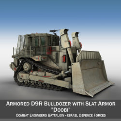 Israeli Armored D9R Bulldozer - IDF 3d model high poly virtual reality 3ds fbx c4d lwo lws lw obj