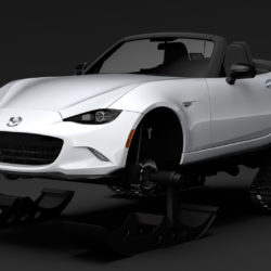 Mazda MX 5 Maita Club Ski 2018 3d model high poly max fbx c4d lwo lws lw ma mb  obj