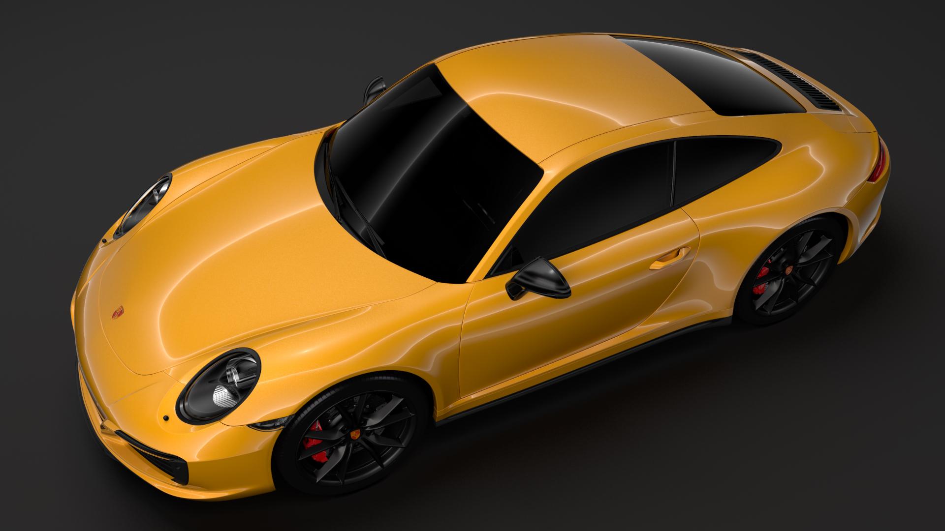 porsche 911 carrera t coupe (991) 2018 3d model max fbx c4d lwo ma mb hrc xsi obj 278960