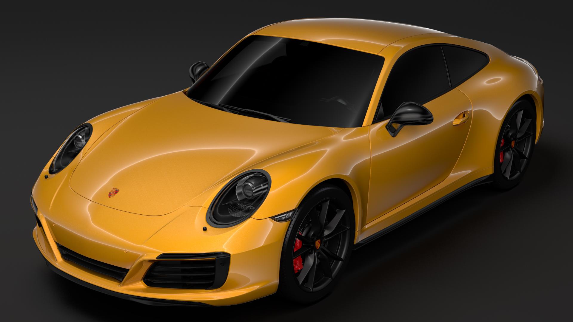 porsche 911 carrera t coupe (991) 2018 3d model max fbx c4d lwo ma mb hrc xsi obj 278961