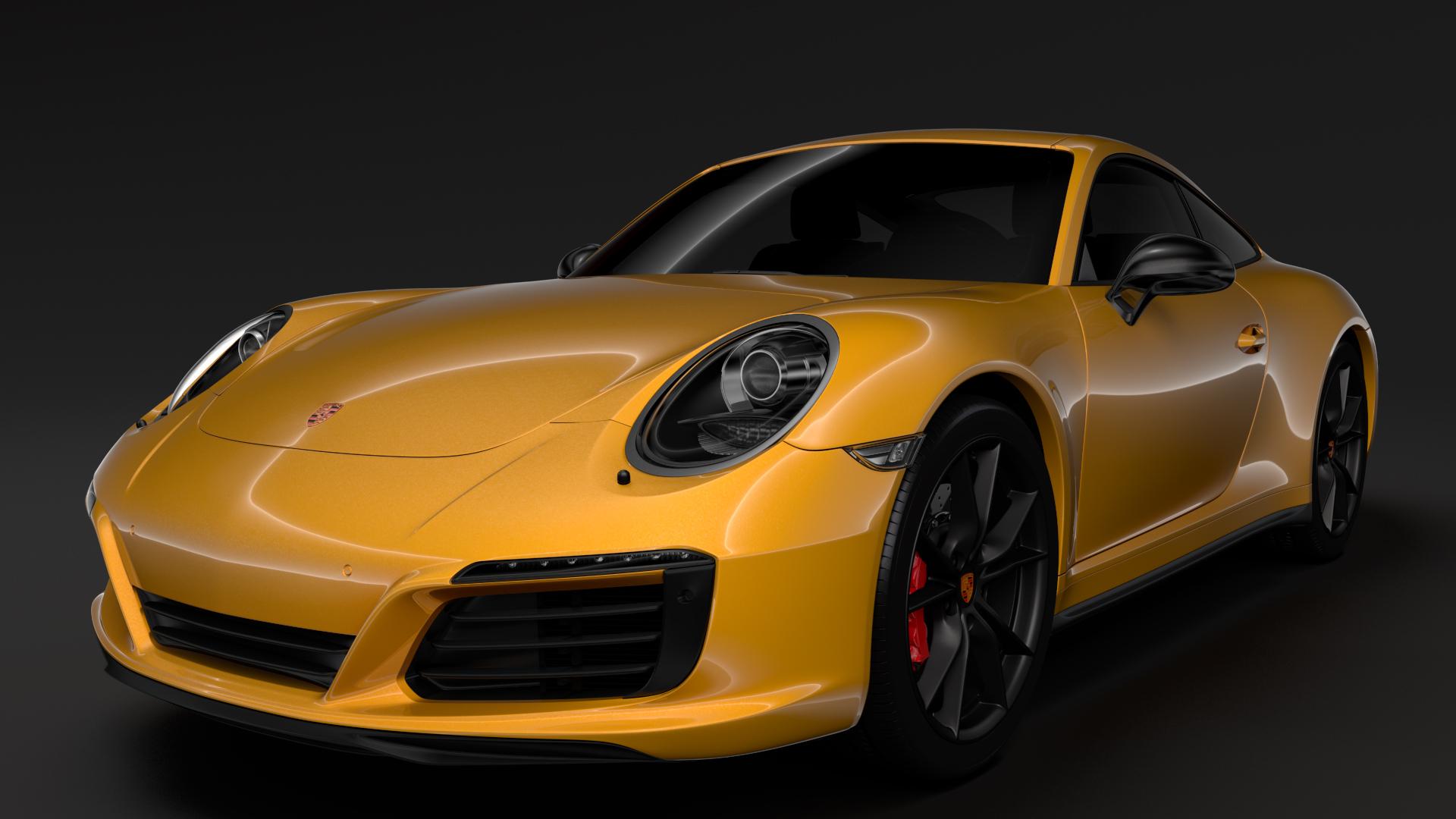 porsche 911 carrera t coupe (991) 2018 3d model max fbx c4d lwo ma mb hrc xsi obj 278962