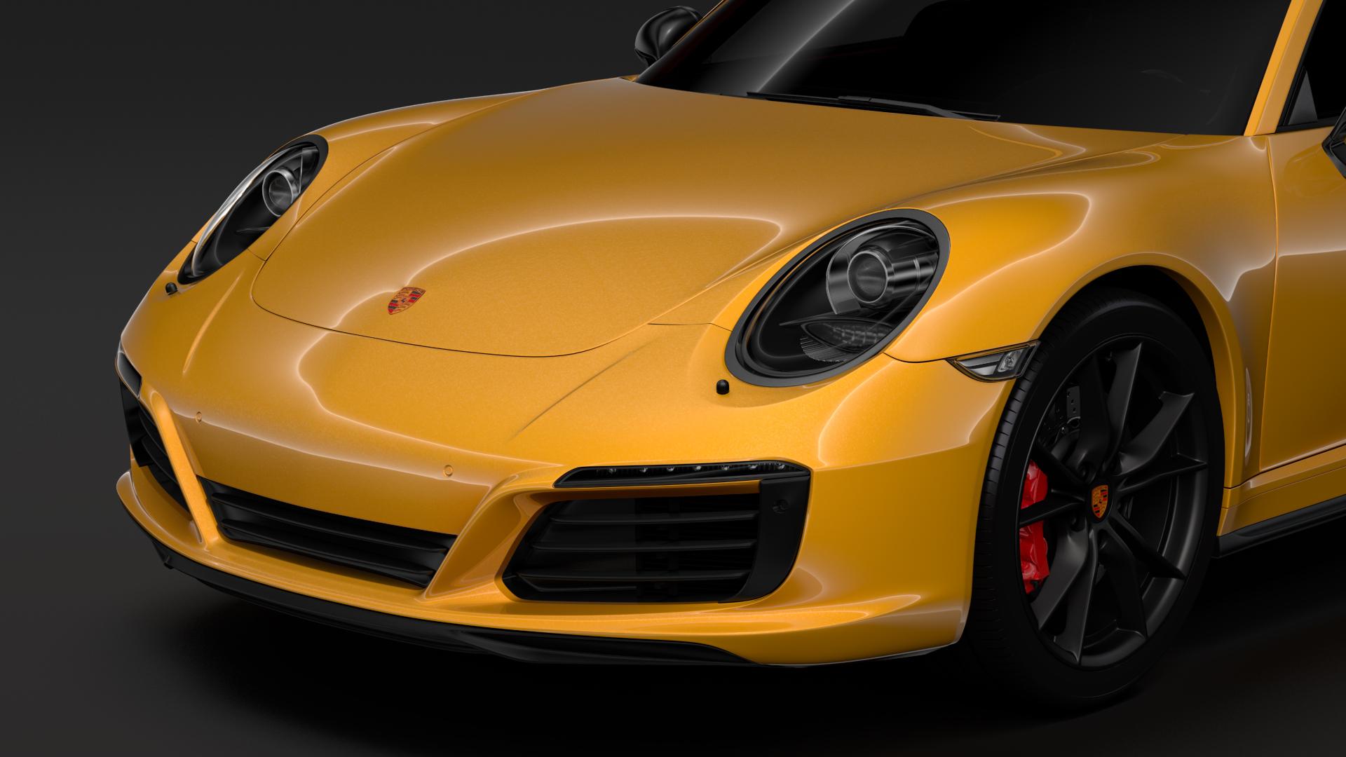 porsche 911 carrera t coupe (991) 2018 3d model max fbx c4d lwo ma mb hrc xsi obj 278964