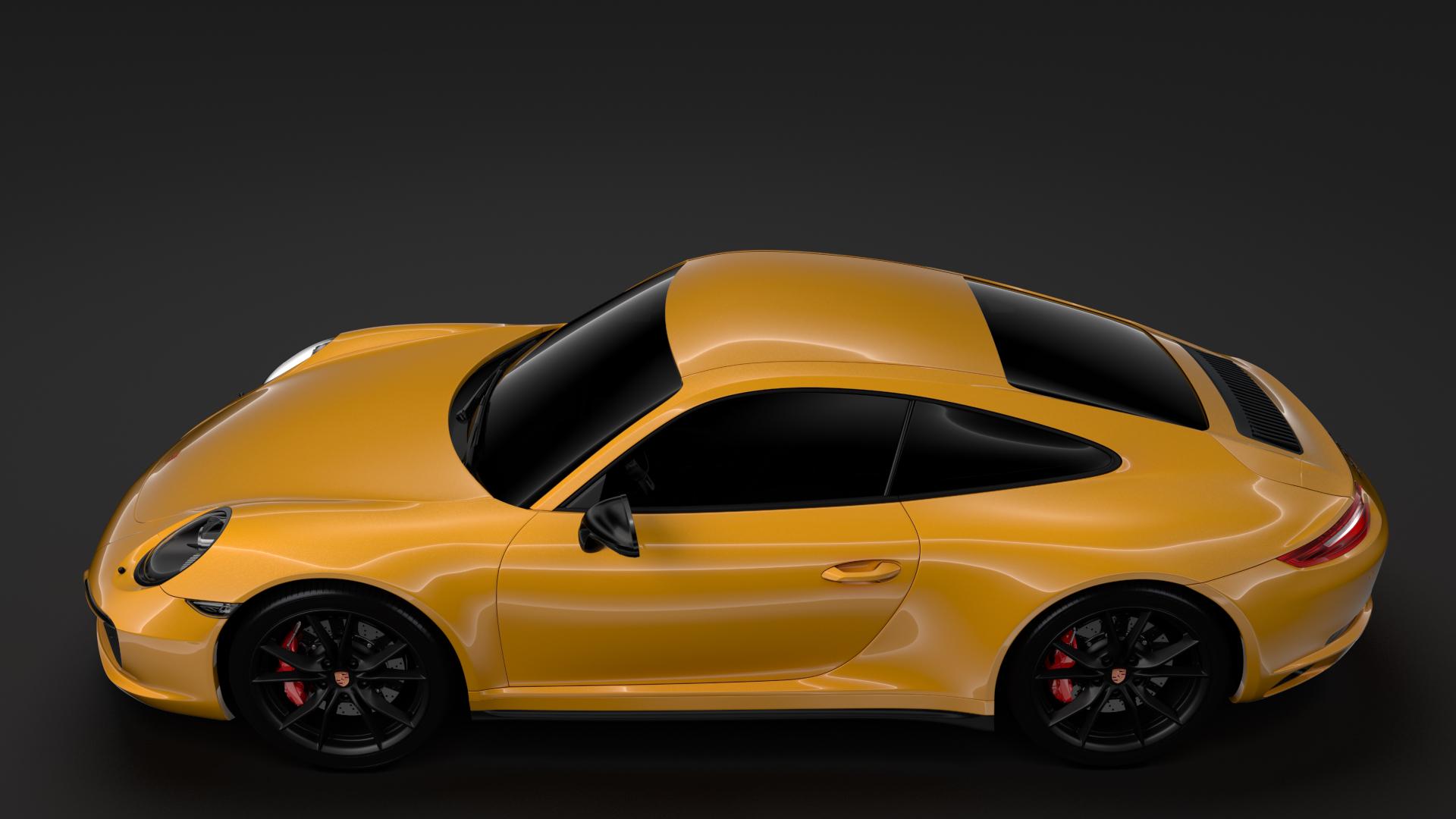 porsche 911 carrera t coupe (991) 2018 3d model max fbx c4d lwo ma mb hrc xsi obj 278966