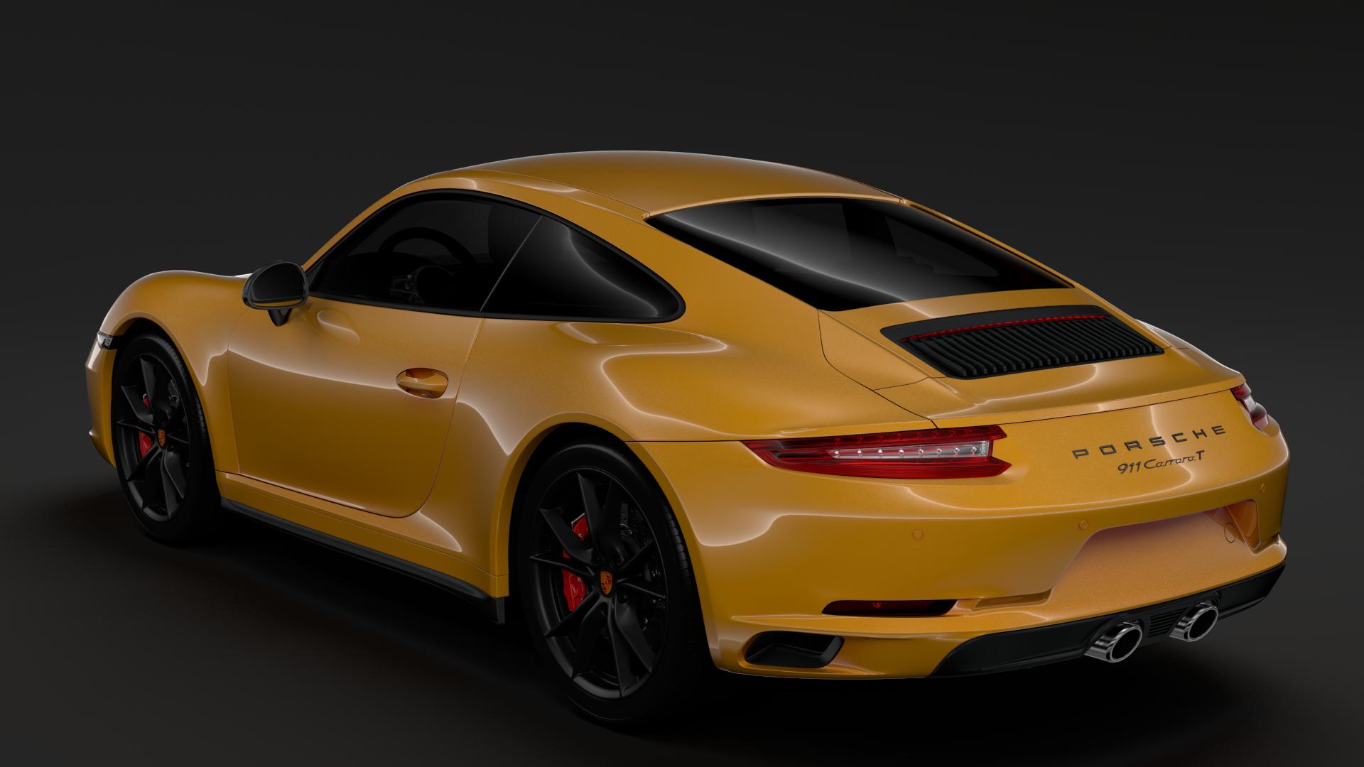 porsche 911 carrera t coupe (991) 2018 3d model max fbx c4d lwo ma mb hrc xsi obj 278967