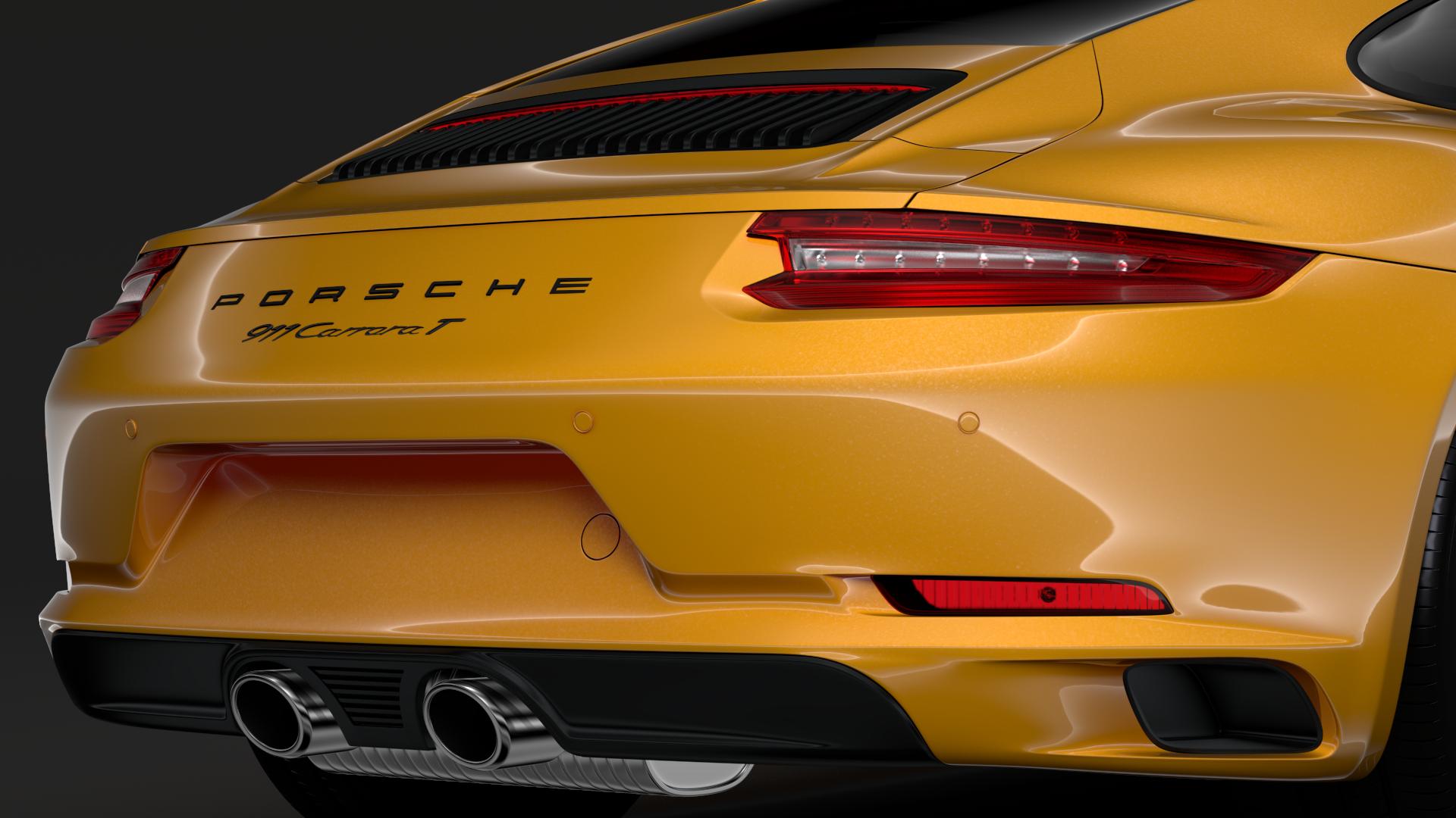 porsche 911 carrera t coupe (991) 2018 3d model max fbx c4d lwo ma mb hrc xsi obj 278968