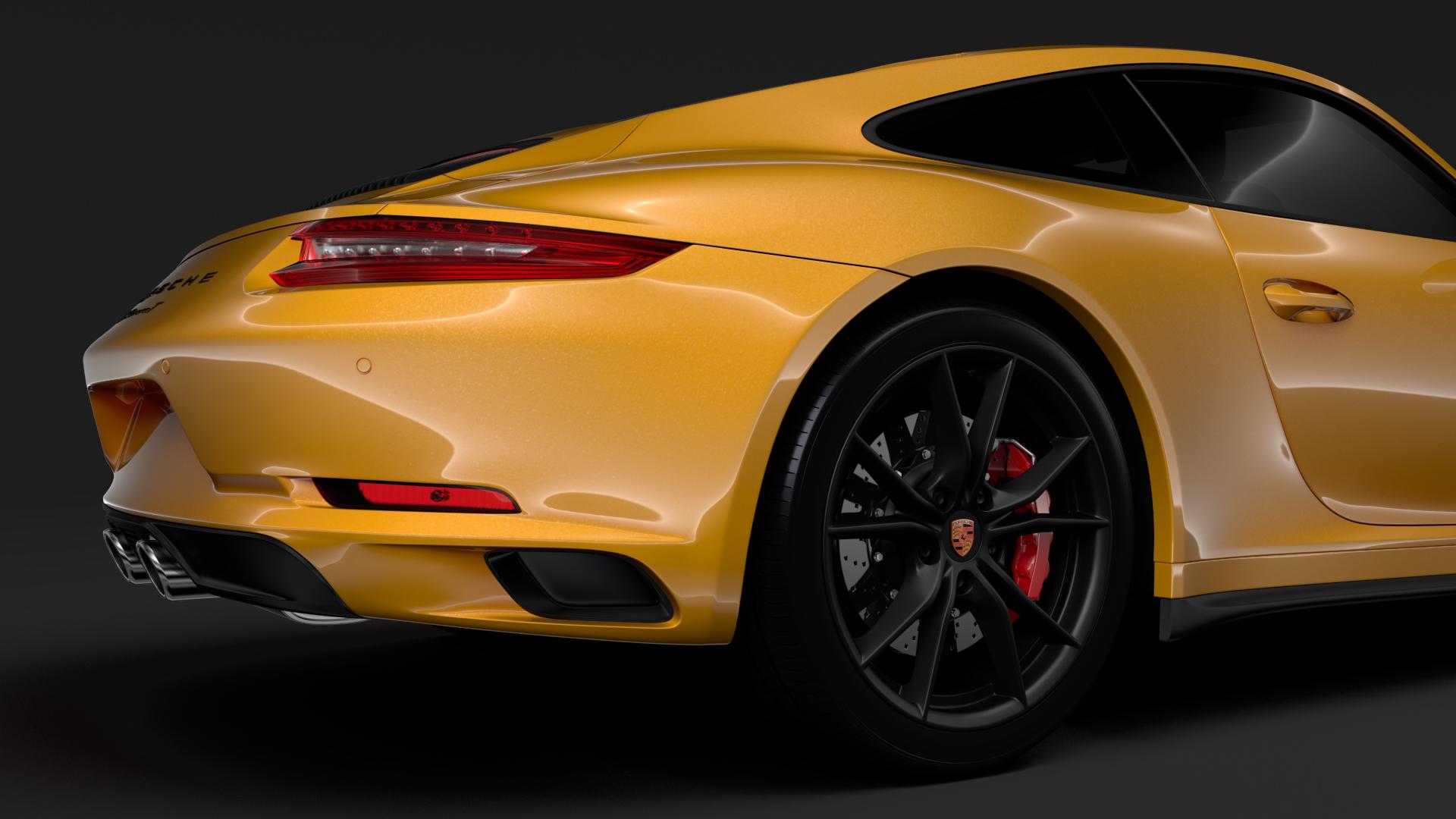 porsche 911 carrera t coupe (991) 2018 3d model max fbx c4d lwo ma mb hrc xsi obj 278970