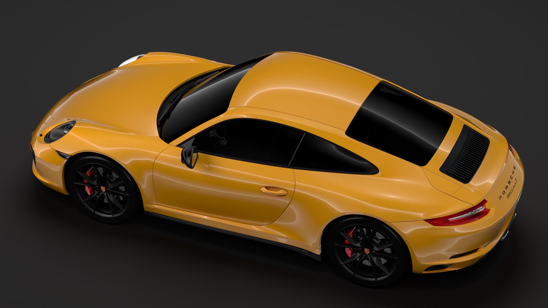 porsche 911 carrera t coupe (991) 2018 3d model max fbx c4d lwo ma mb hrc xsi obj 278971