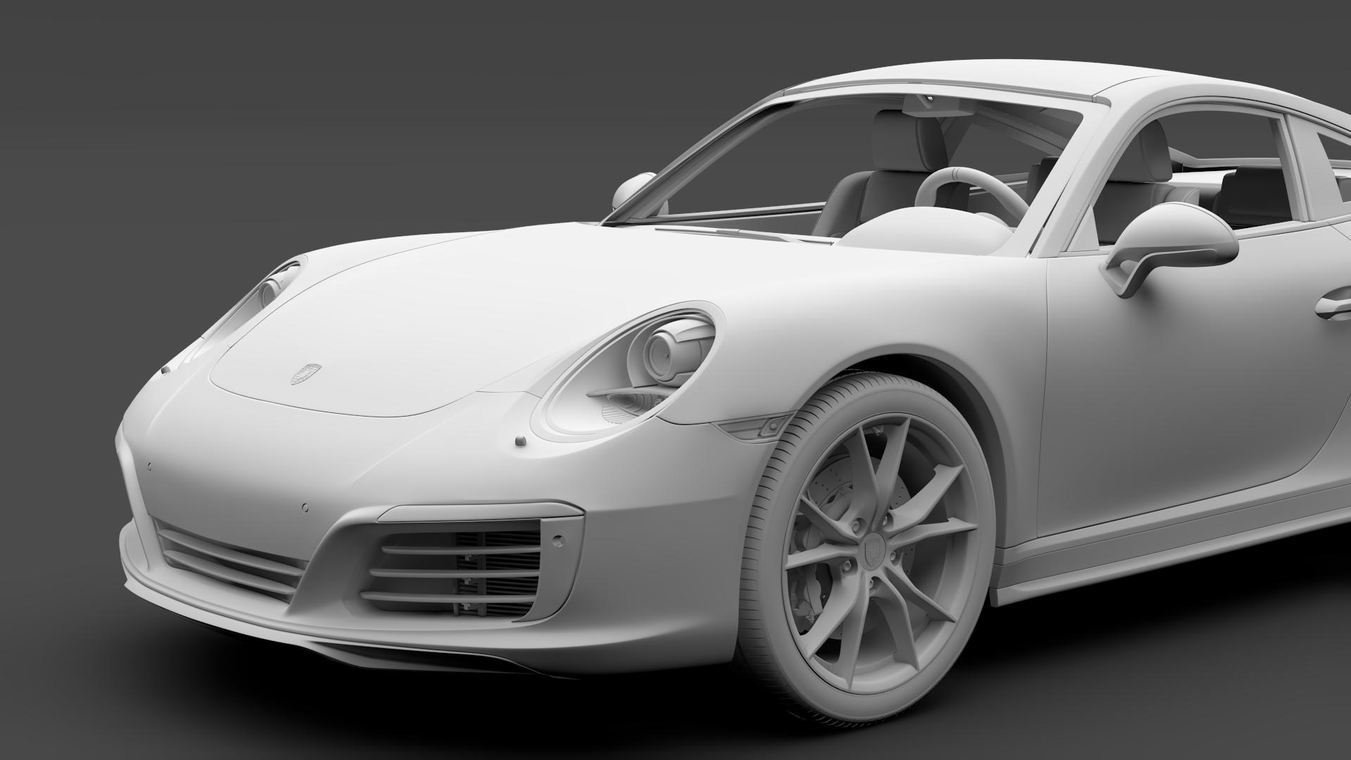 porsche 911 carrera t coupe (991) 2018 3d model max fbx c4d lwo ma mb hrc xsi obj 278972