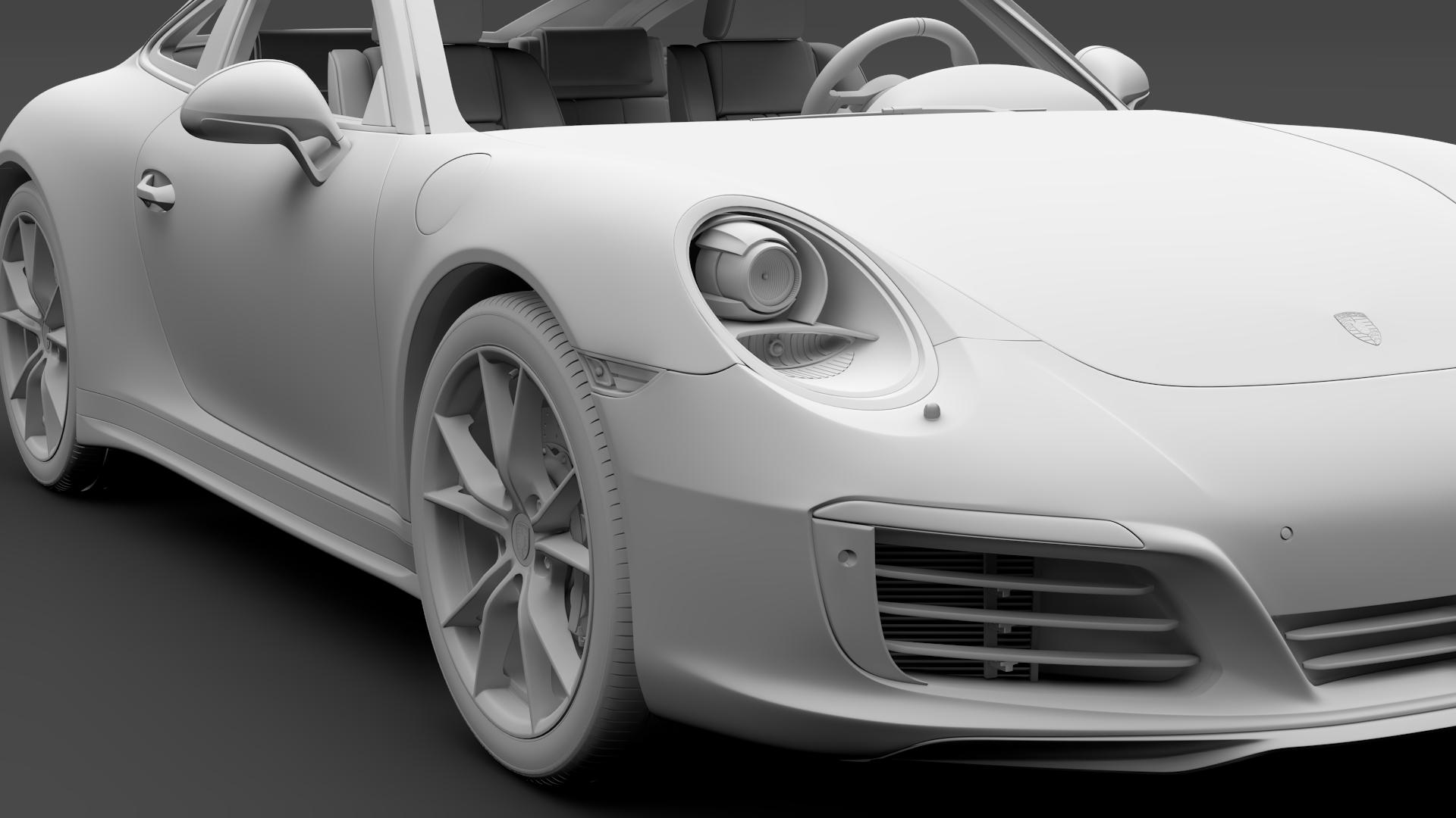 porsche 911 carrera t coupe (991) 2018 3d model max fbx c4d lwo ma mb hrc xsi obj 278973