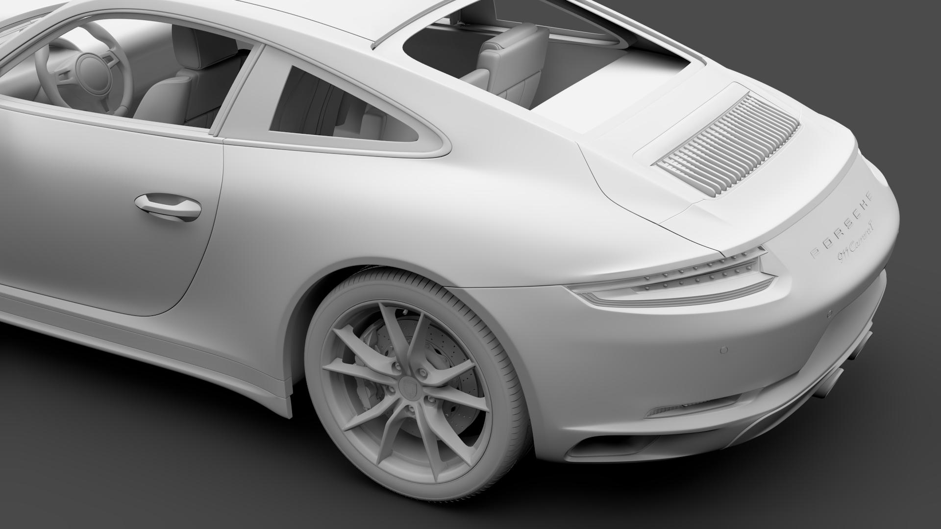 porsche 911 carrera t coupe (991) 2018 3d model max fbx c4d lwo ma mb hrc xsi obj 278976