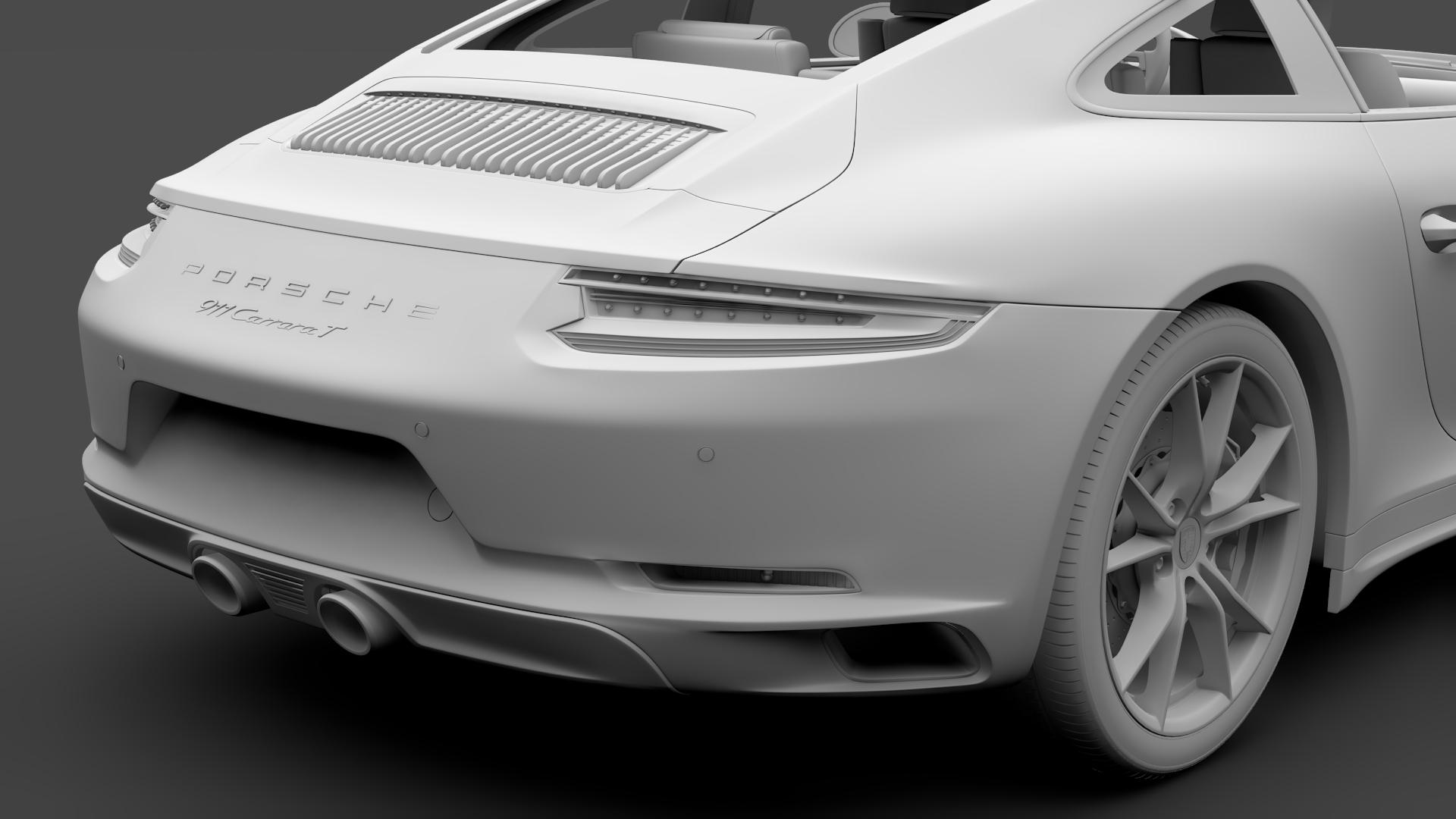 porsche 911 carrera t coupe (991) 2018 3d model max fbx c4d lwo ma mb hrc xsi obj 278977