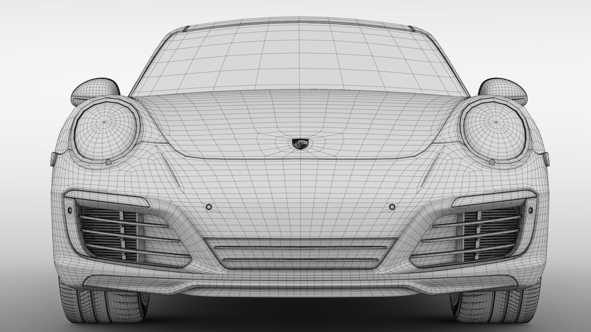 porsche 911 carrera t coupe (991) 2018 3d model max fbx c4d lwo ma mb hrc xsi obj 278978