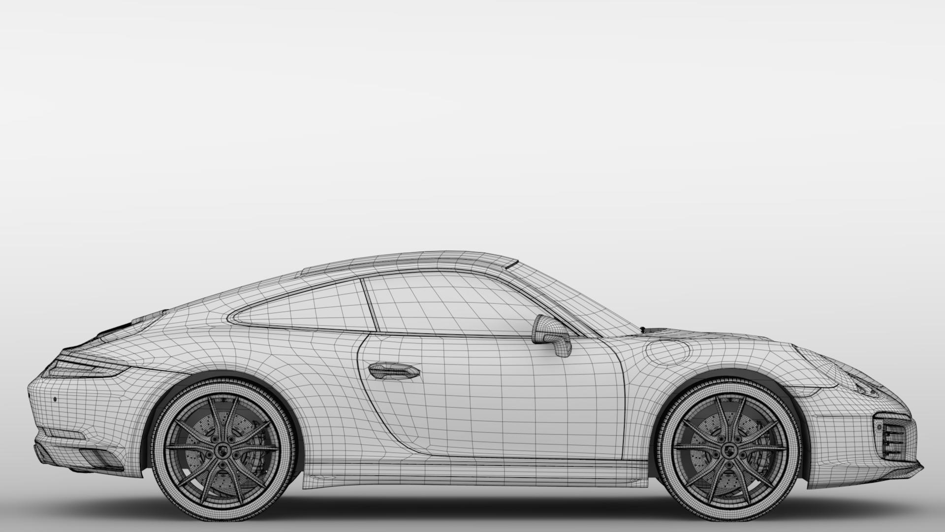 porsche 911 carrera t coupe (991) 2018 3d model max fbx c4d lwo ma mb hrc xsi obj 278979
