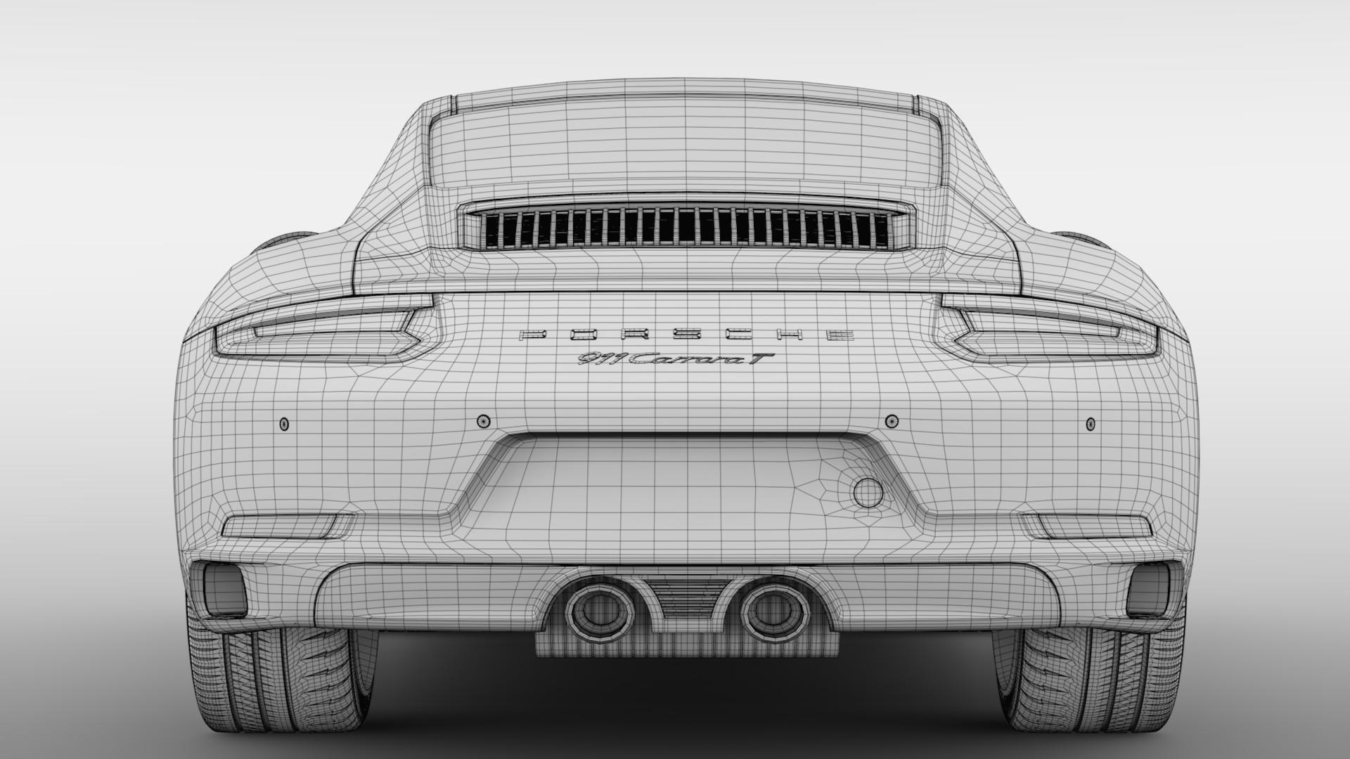 porsche 911 carrera t coupe (991) 2018 3d model max fbx c4d lwo ma mb hrc xsi obj 278980