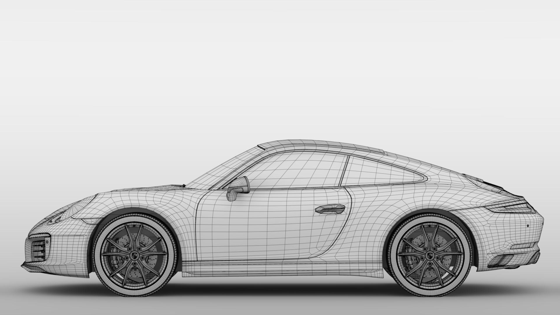 porsche 911 carrera t coupe (991) 2018 3d model max fbx c4d lwo ma mb hrc xsi obj 278981