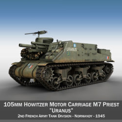 M7 Priest - Uranus 3d model high poly virtual reality 3ds fbx c4d lwo lws lw obj