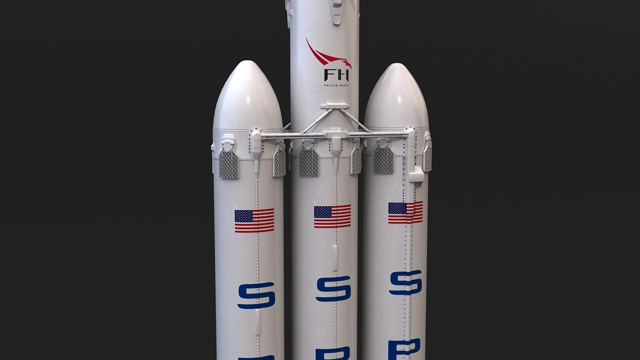 falcon heavy 3d model 3ds max 279074
