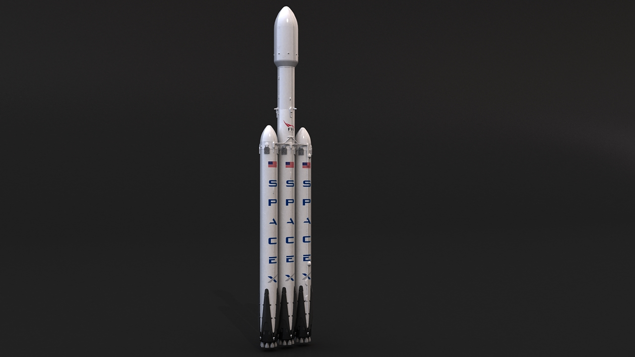 falcon heavy 3d model 3ds max 279075