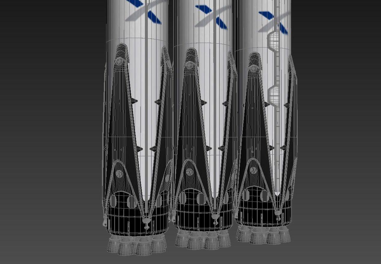Falcon Heavy 3d model 3ds max