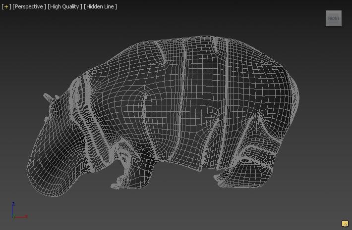 hippopotamus 3d model 3ds max fbx c4d dae  279091