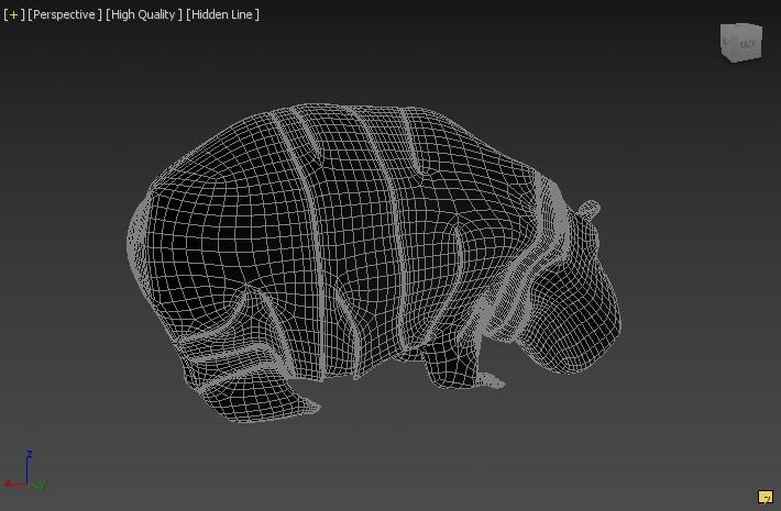 hippopotamus 3d model 3ds max fbx c4d dae  279095