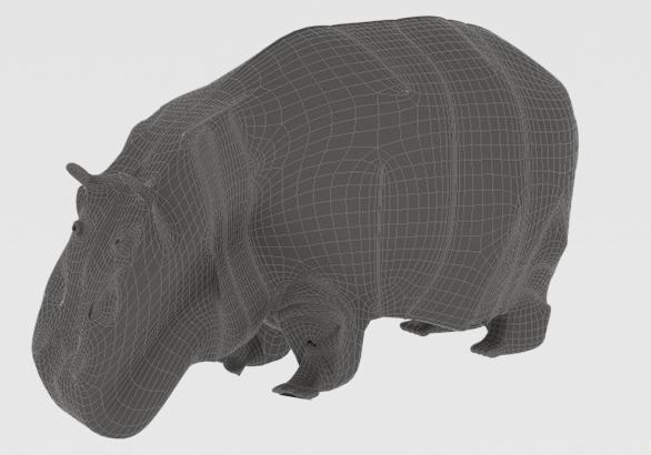 hippopotamus 3d model 3ds max fbx c4d dae  279096