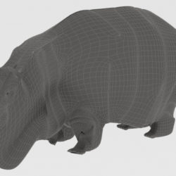 Hippopotamus 3d model render ready game ready virtual reality 3d printing 3ds max fbx c4d dae