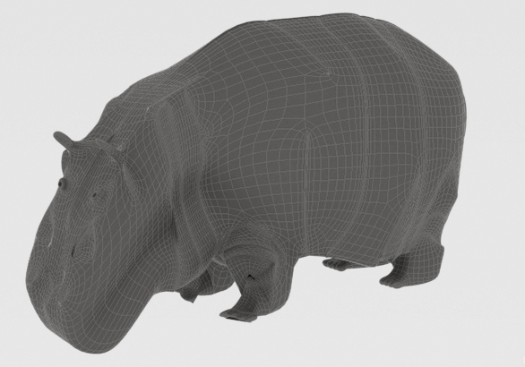 Hippopotamus 3d model 3ds max fbx c4d dae  279097